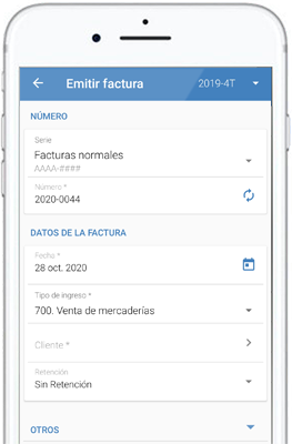Mobile app for billing and accounting