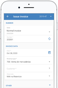 Mobile app for invoicing and accounting